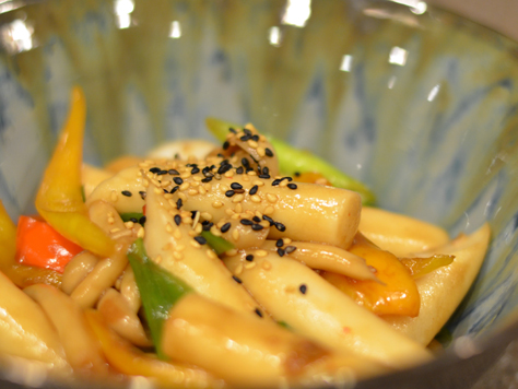 "Vegetarian Gungjung Tteokbokki (""Royal Court"" Rice Cakes)"