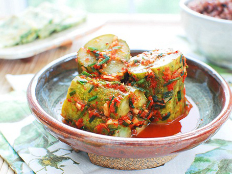 Banchan korean food gallery discover korean food recipes and oi sobagi stuffed cucumber kimchi forumfinder Image collections
