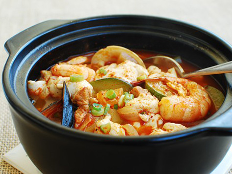 Soups stews korean food gallery discover korean food recipes haemul sundubu jjigae seafood soft tofu stew forumfinder Gallery