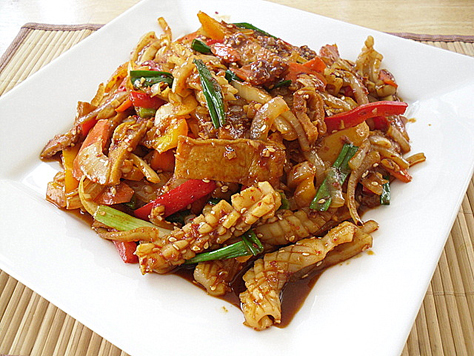 Fish seafood korean food gallery discover korean food recipes ojingeo bokkeum forumfinder Images