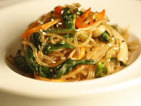 Vegetarian Bibimbap Japchae   Korean Food ...