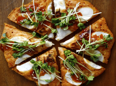 how to make kimchi pizza