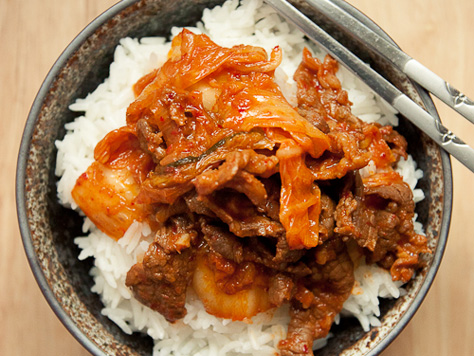 Beef and Kimchi Stir-fry   Korean Food Gallery – Discover Korean ...