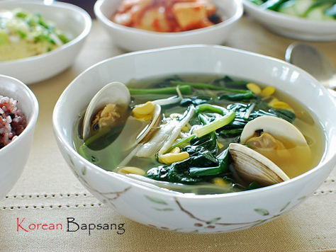Korean Spinach Soup Spinach Doenjang Soup