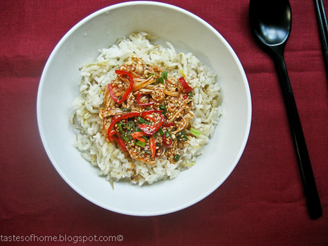 Kongnamul Bap (Korean Beansprout Rice Bowl) Recipe — Dishmaps